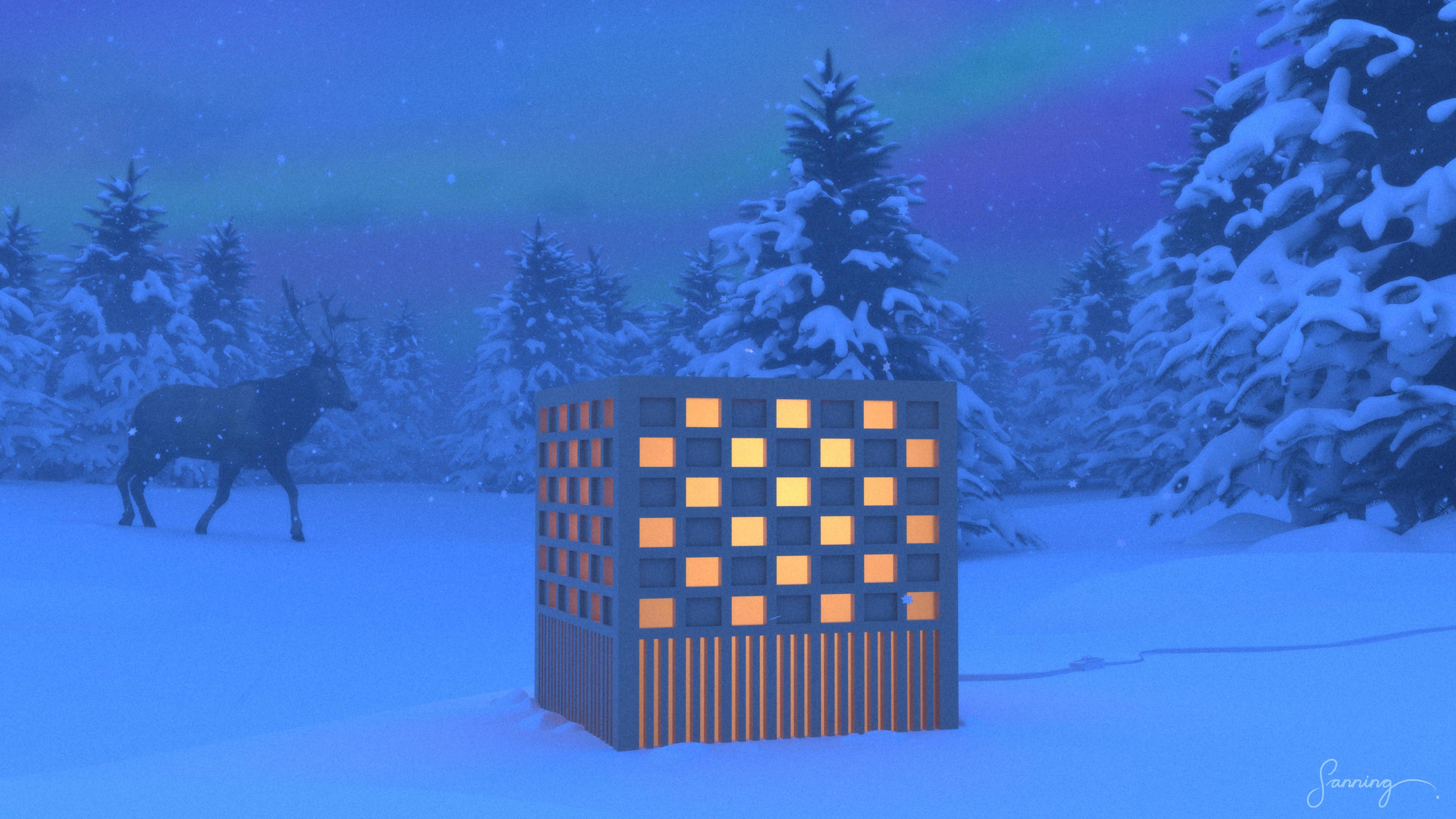 """Arkipelago\Möbelworkshop – """"HL2-lampa"""" [armatur] – utomhusrendering"""