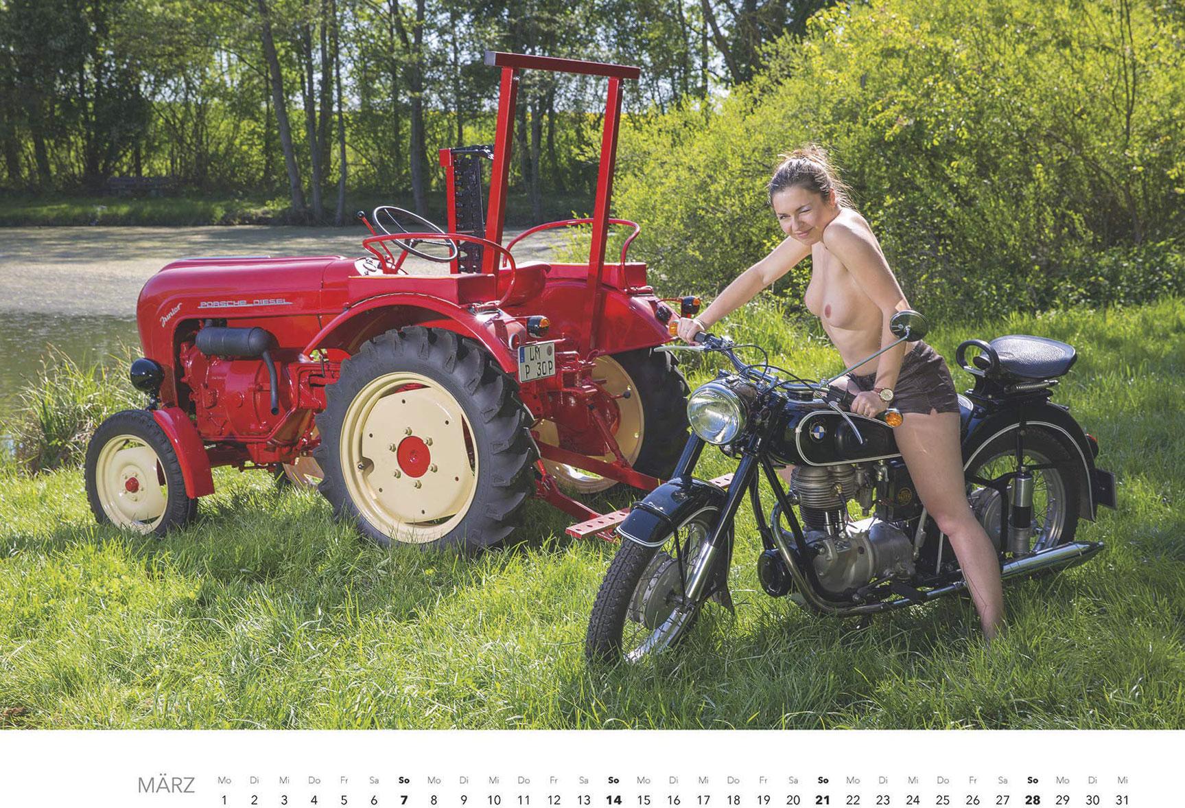 Эротический календарь -Мечты молодых фермеров 2021- / март