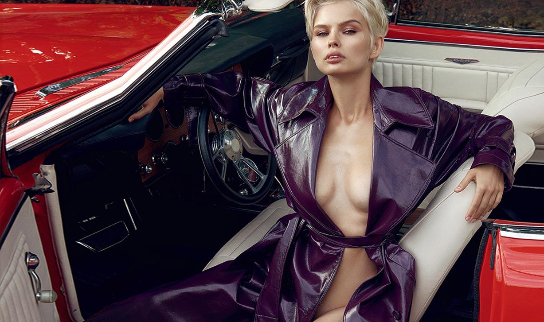 сексуальная полуголая Юлия Логачева в журнале Maxim Франция
