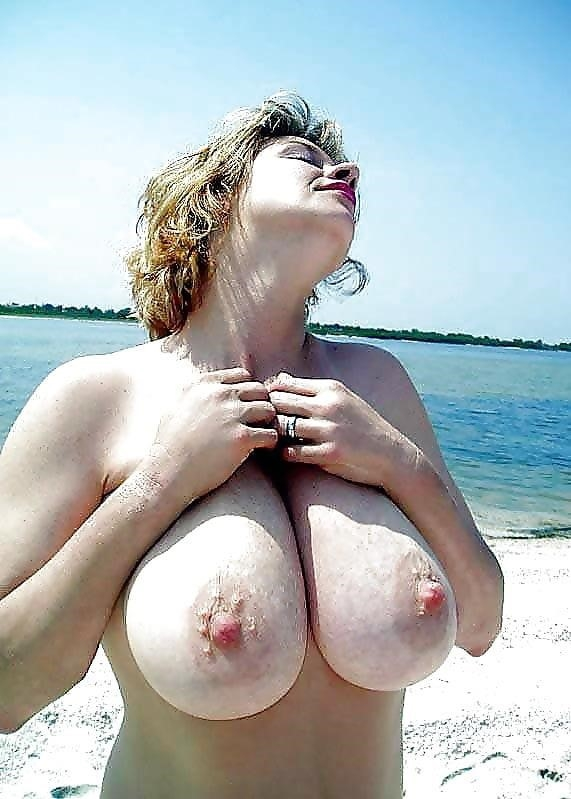 Big boobs nude on beach-3978