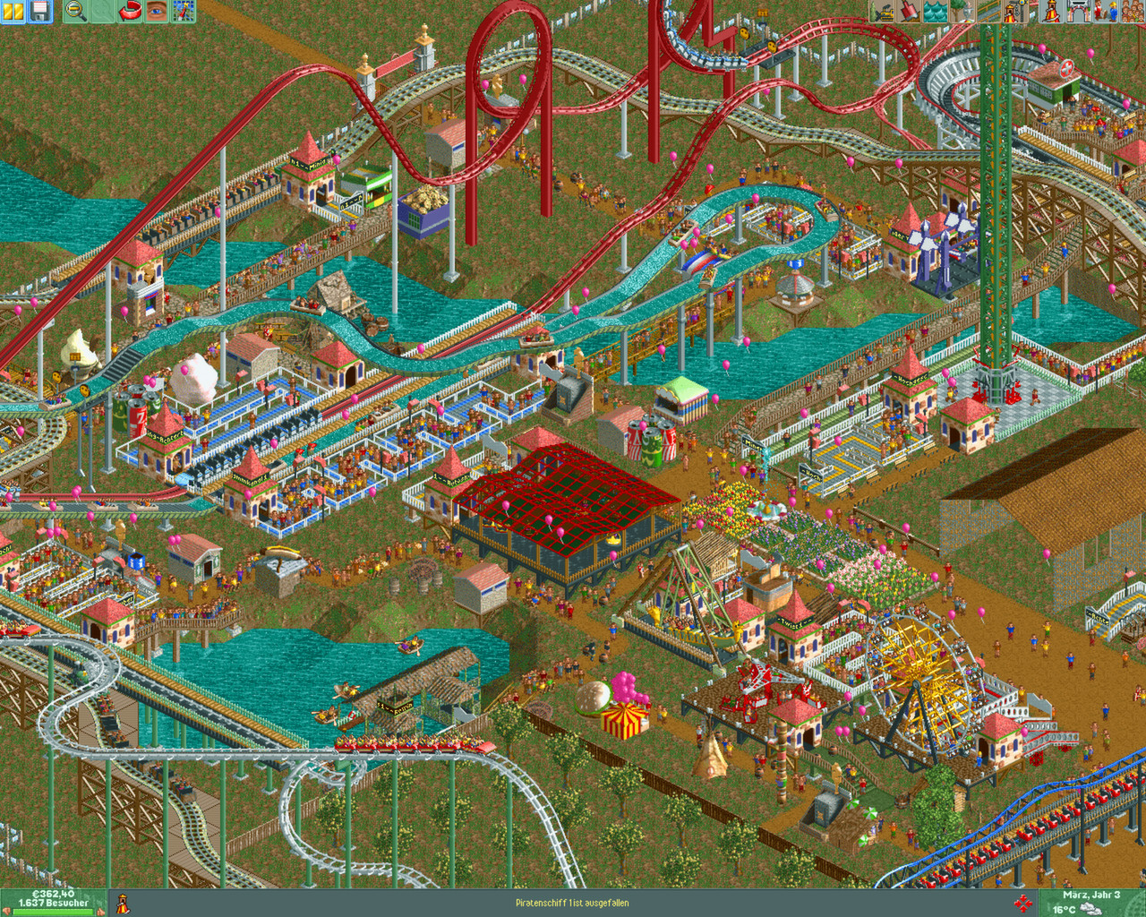 Rollercoaster Tycoon 2: Triple Thrill Pack Captura 1