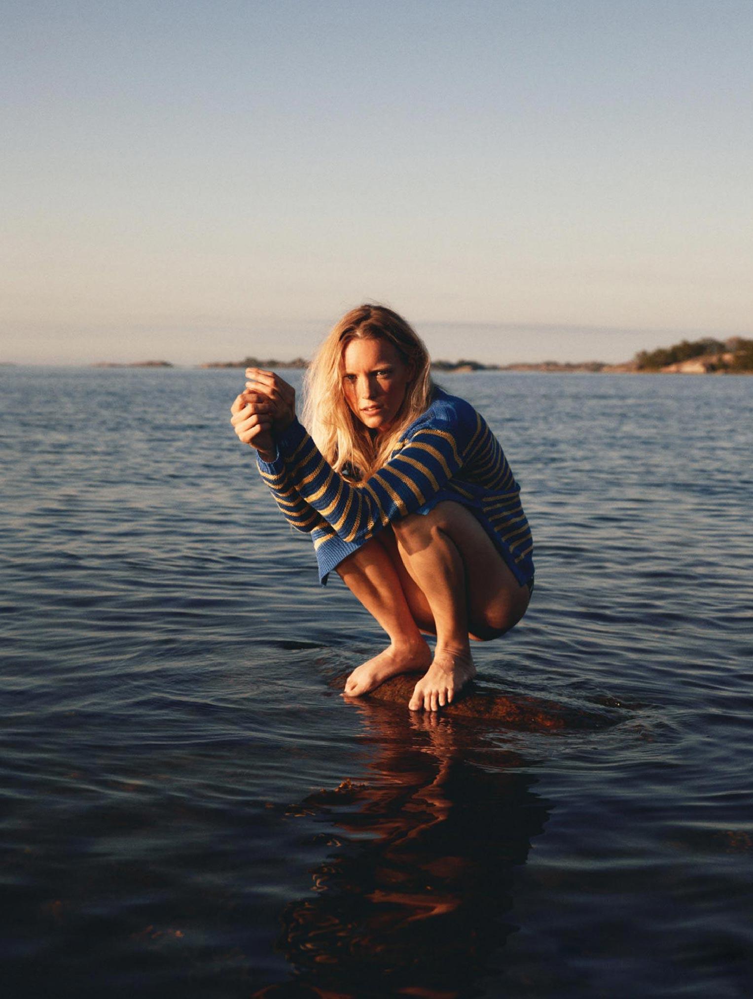 Бразильская модель в гостях у шведской - Эрика Линдер и Ракель Циммерман / фото 21