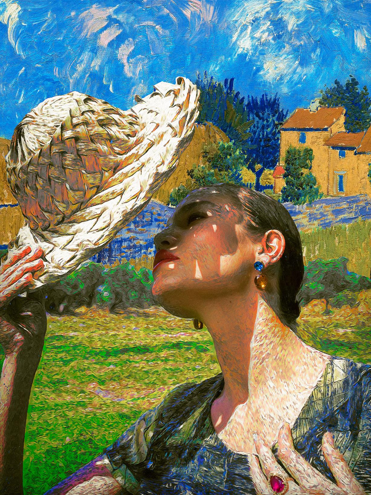 Реклама ювелирных изделий в стиле Ван Гога / фото 14