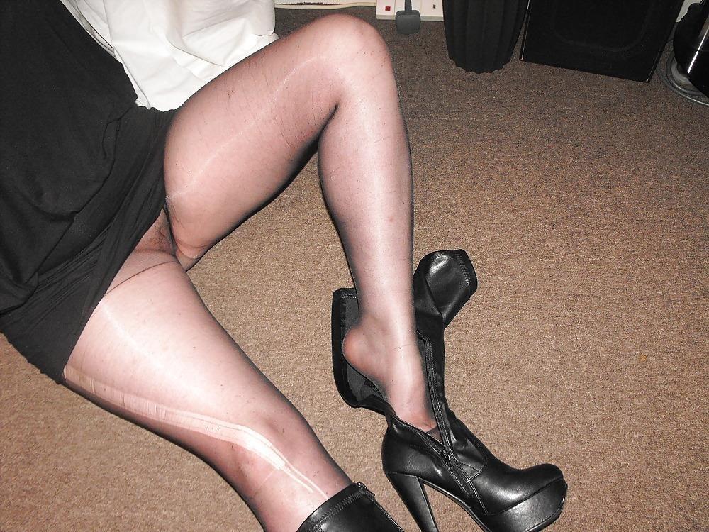 Black knee high combat boots-6841