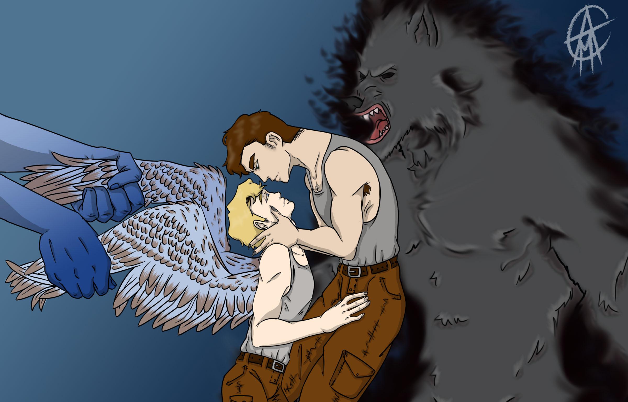 Angel Steve Demon Bucky