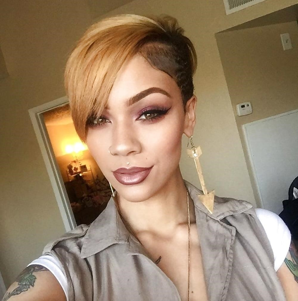 Different short hairstyles for black ladies-2876