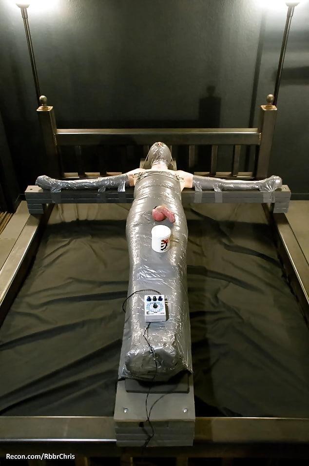 Mummification bondage girl-5948