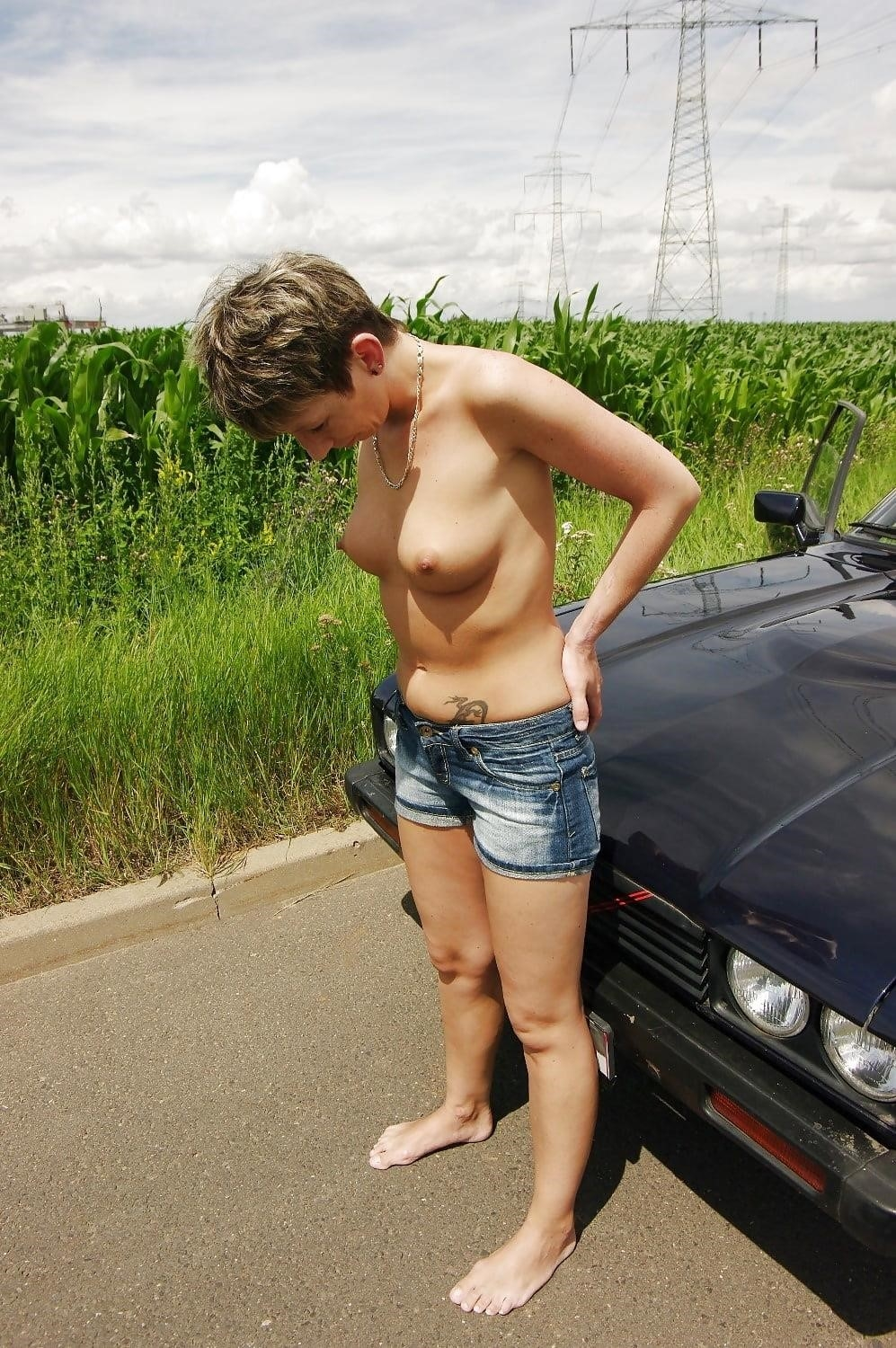 Naked girl with jeans-9982