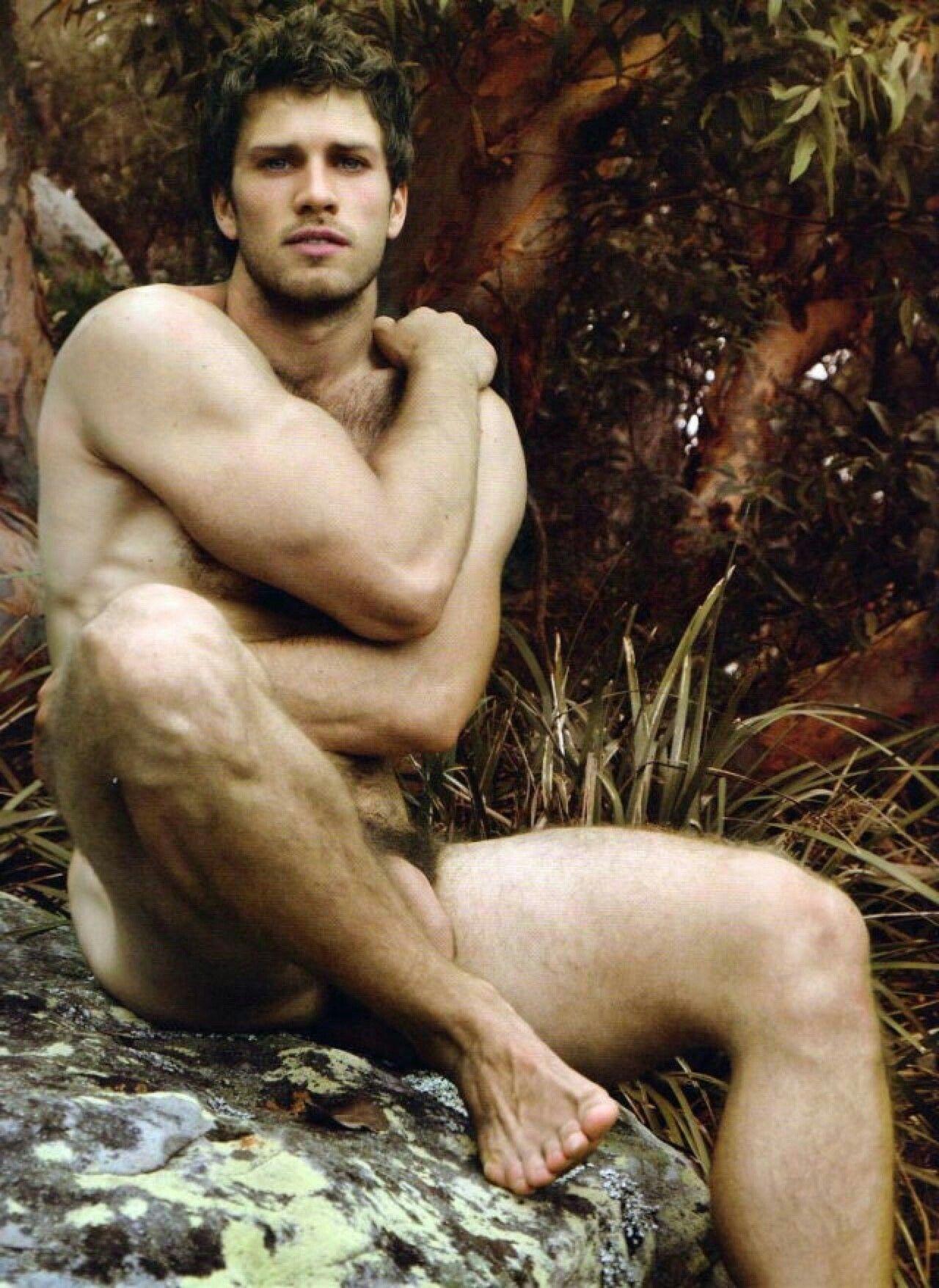 Nude guys in the garden 7