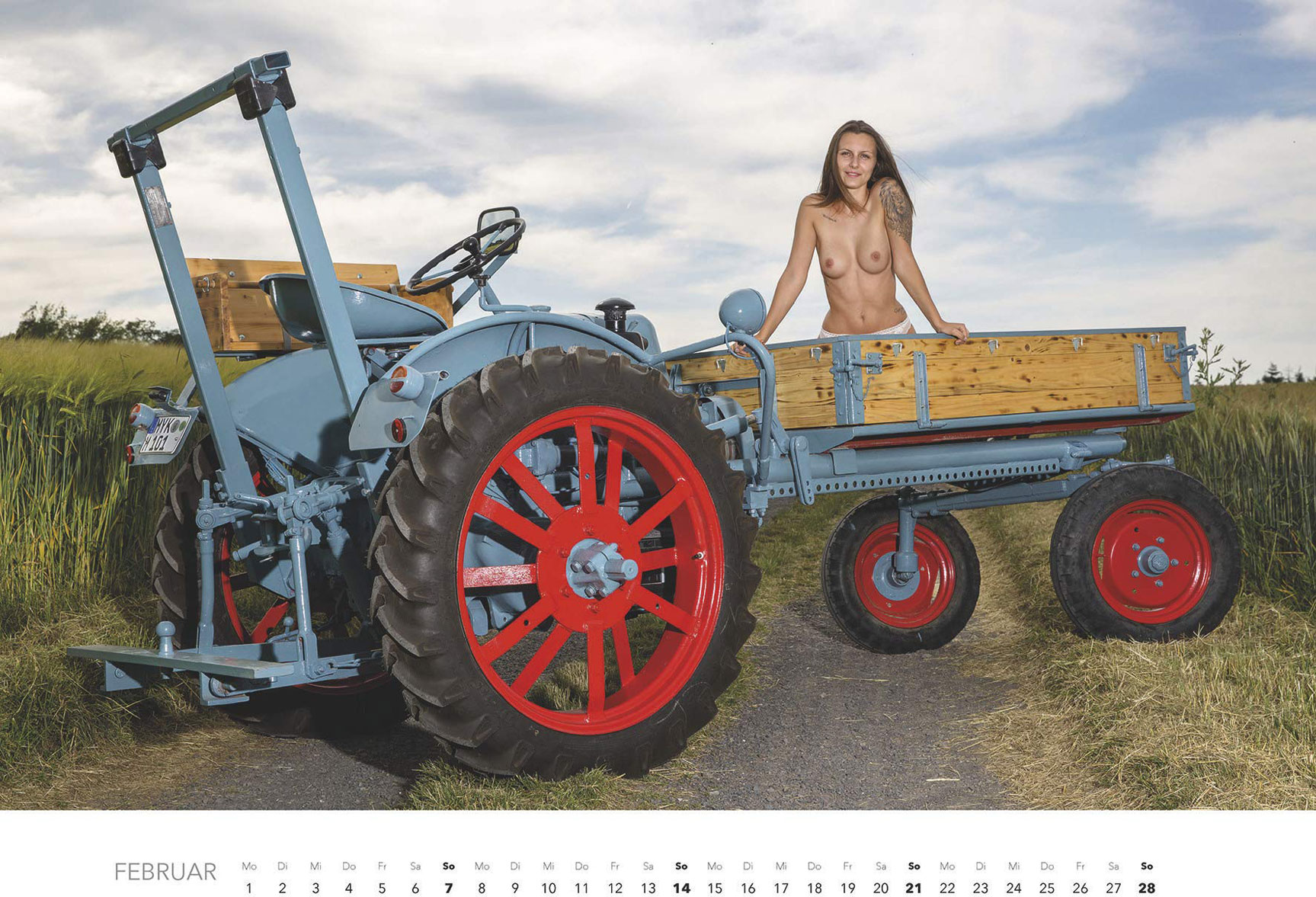Эротический календарь -Мечты молодых фермеров 2021- / февраль