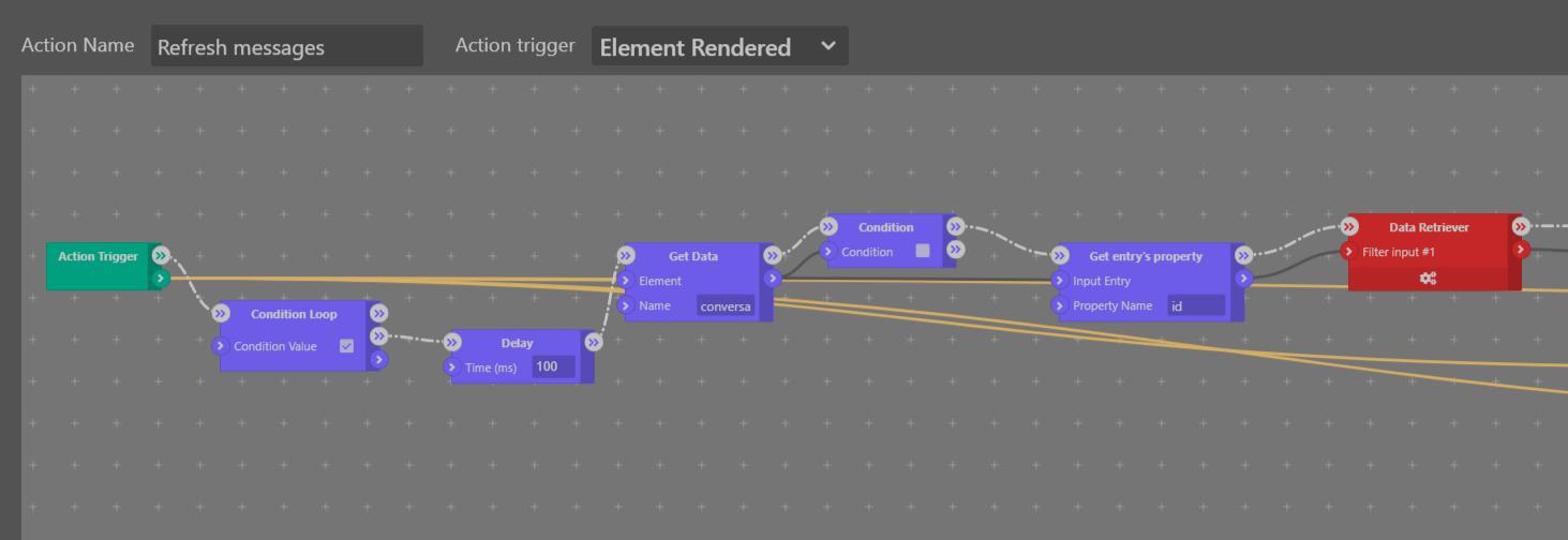 Messages Refresh loop - Sktch.io No-Code Builder