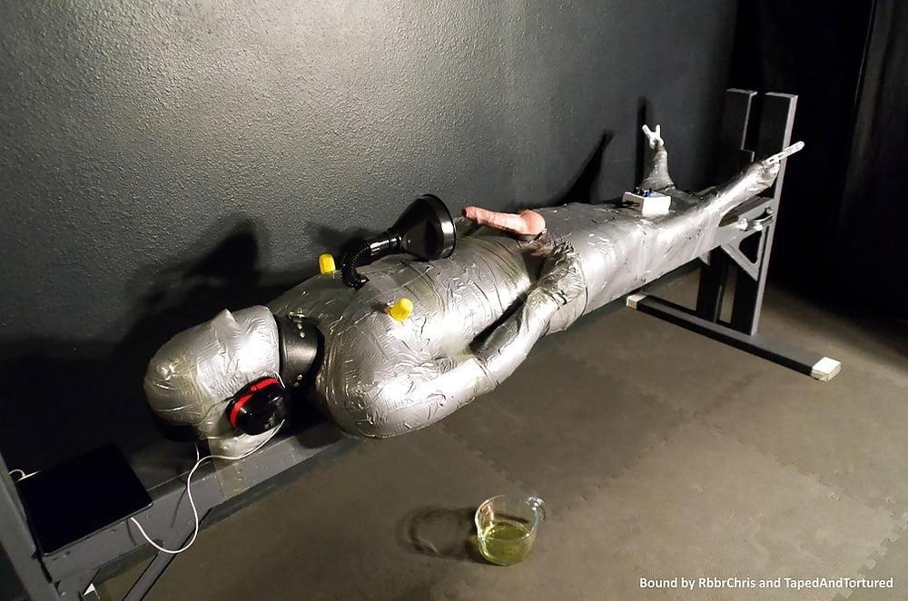 Mummification bondage girl-4463