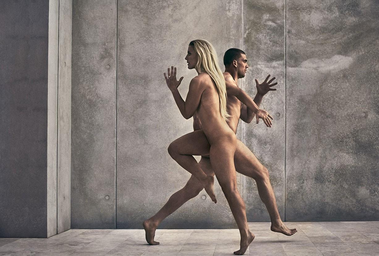 Julie and Zach Ertz - ESPN The Body Issue 2017 / photo by Carlos Serrao