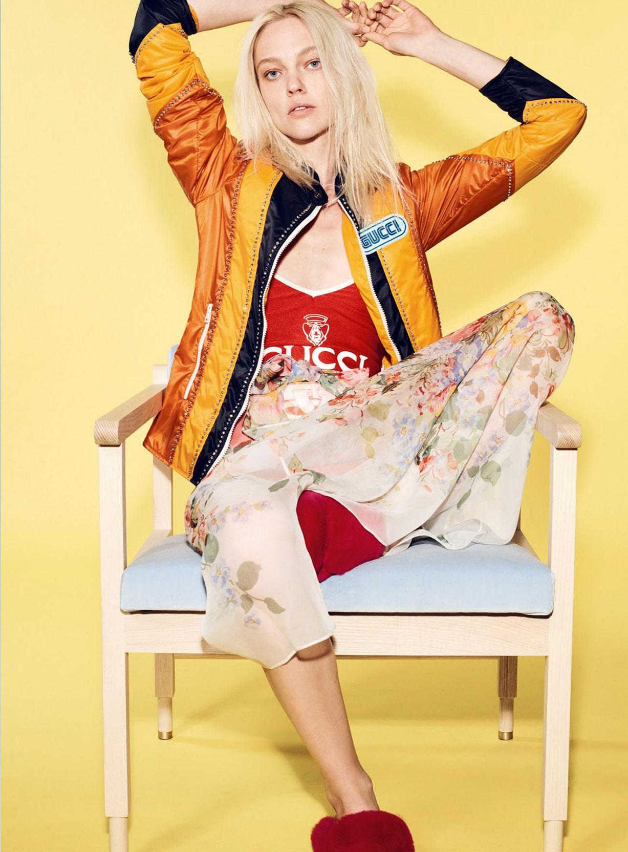 Sasha Pivovarova by Liz Collins - Vogue Turkey april 2018 / Gunduz Dusleri