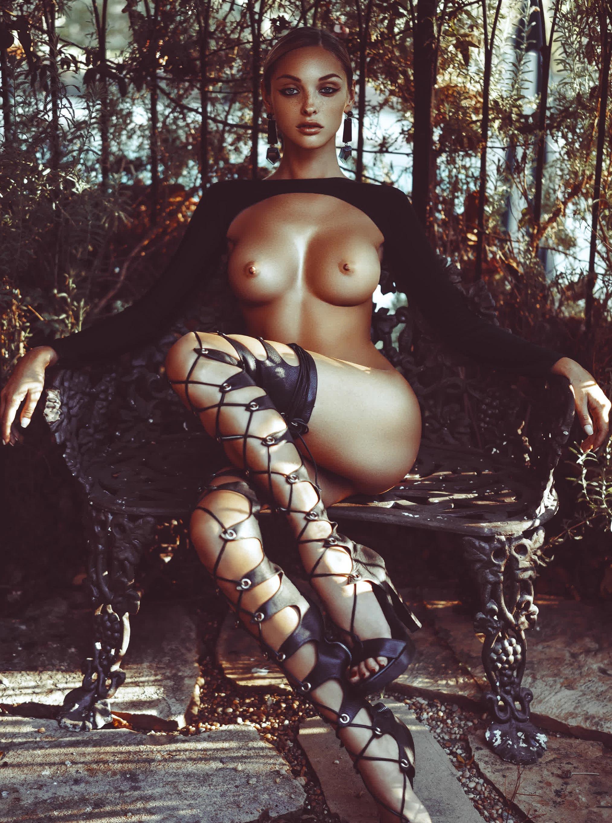 русская модель Кристина Шейтер в элитном особняке Elyx House в Лос-Анджелесе / Kristina Sheiter nude by Kesler Tran / Treats! Magazine issue 10 spring 2016