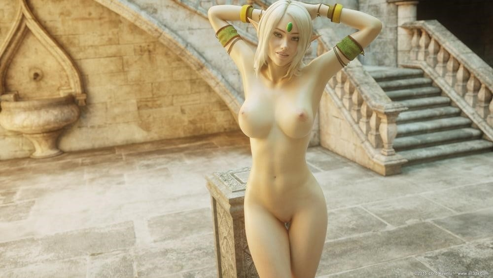 Sexy anime elf girl-5893