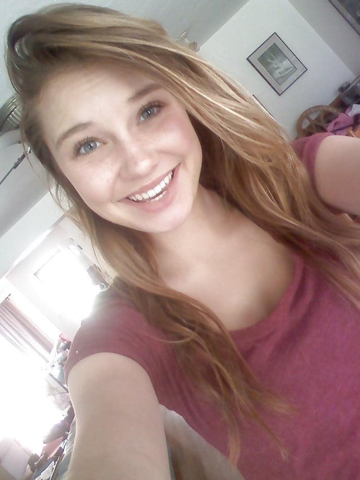 Blonde teen nude mirror selfie-2155