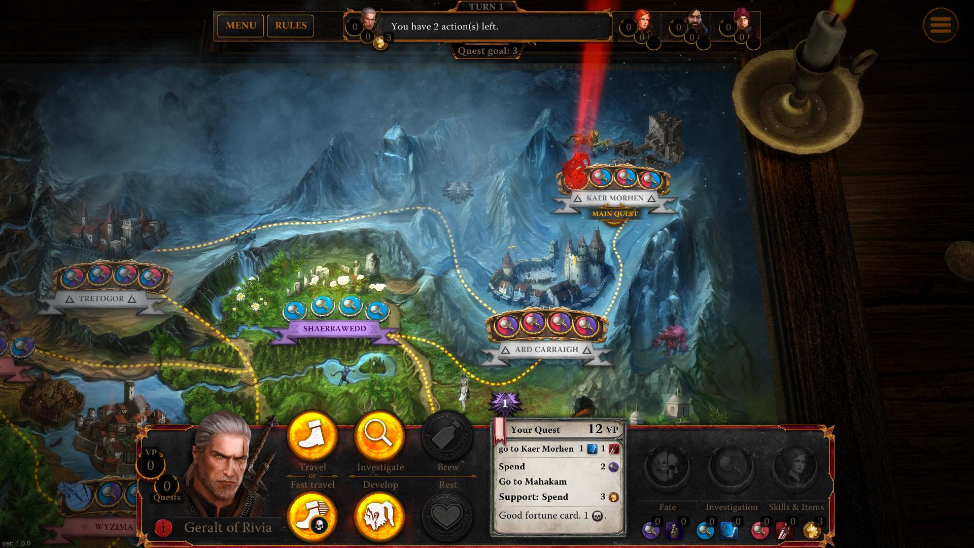The Witcher Adventure Game Captura 1