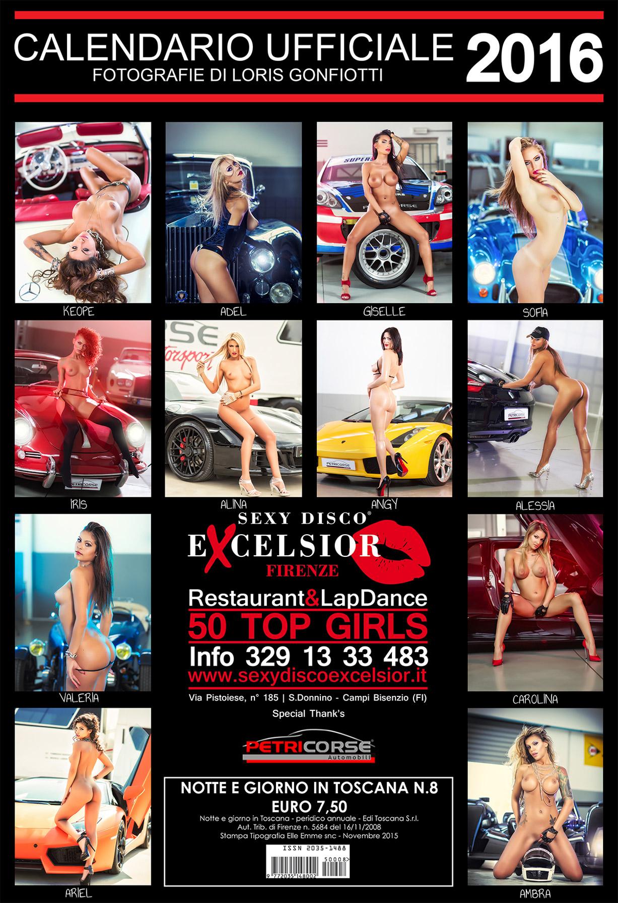 эротический календарь ночного клуба Sexy Disco Excelsior 2016 calendar