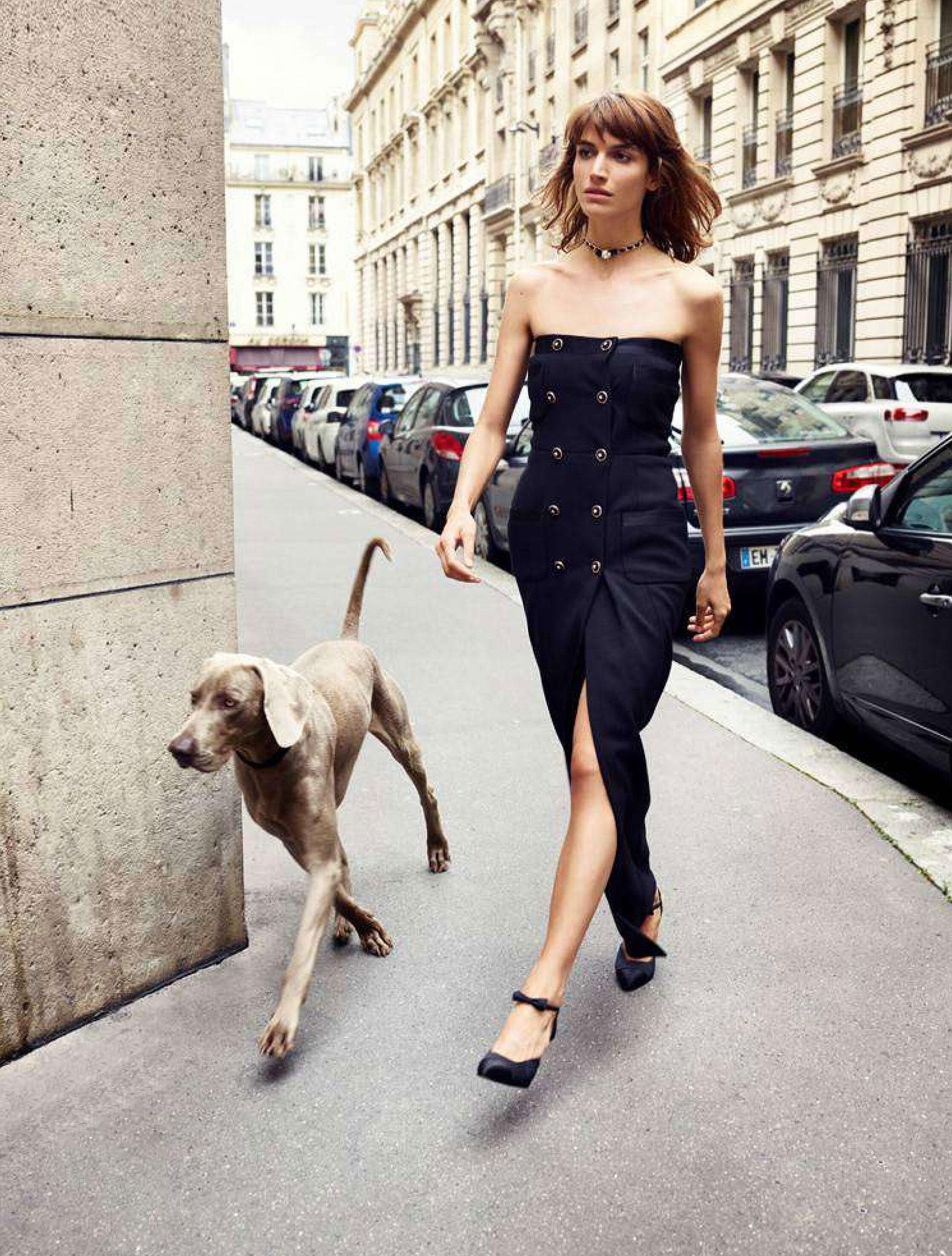 Джоанна Фельдмейер с красивой большой собакой / фото 05