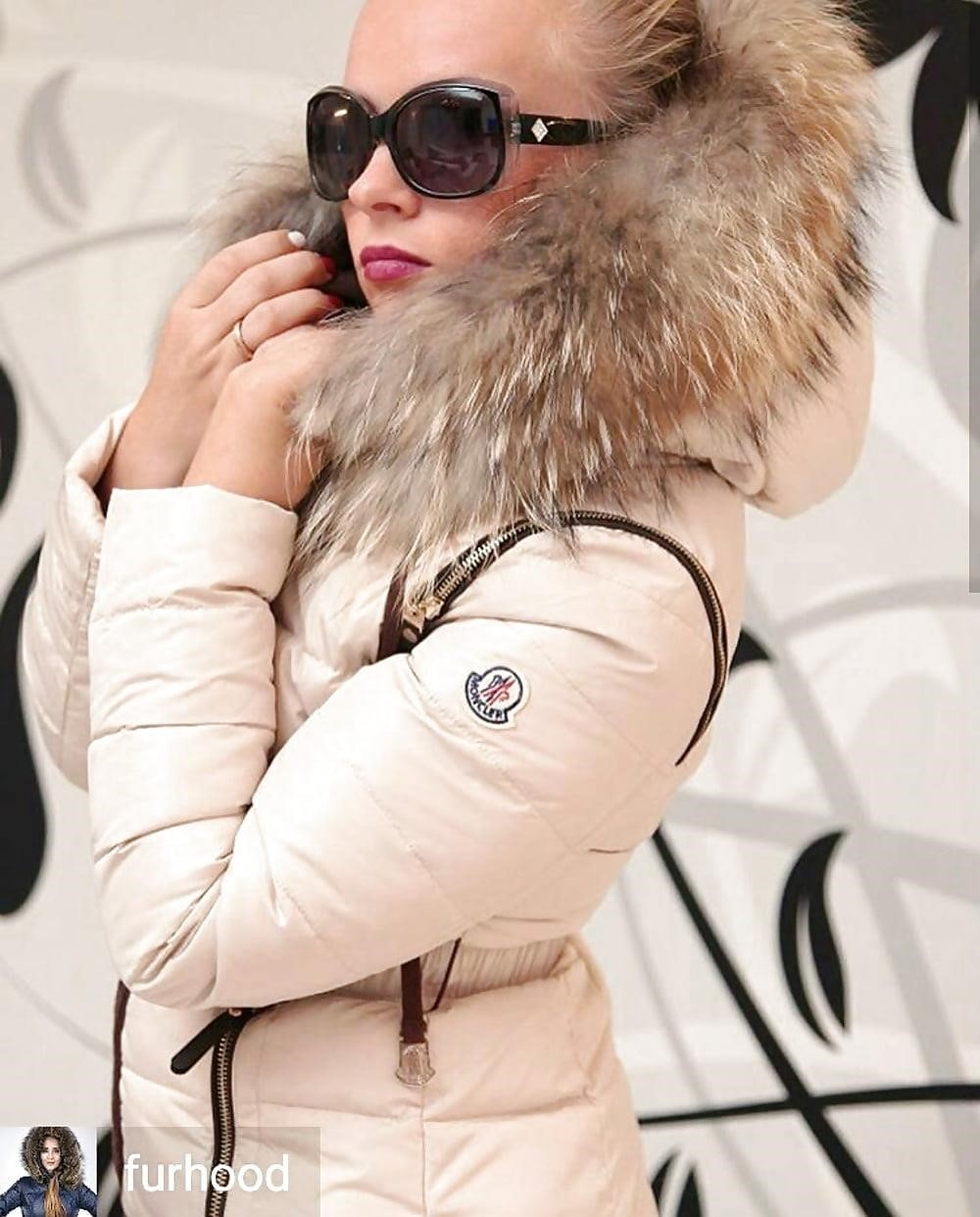 Jean jacket with brown fur-5381
