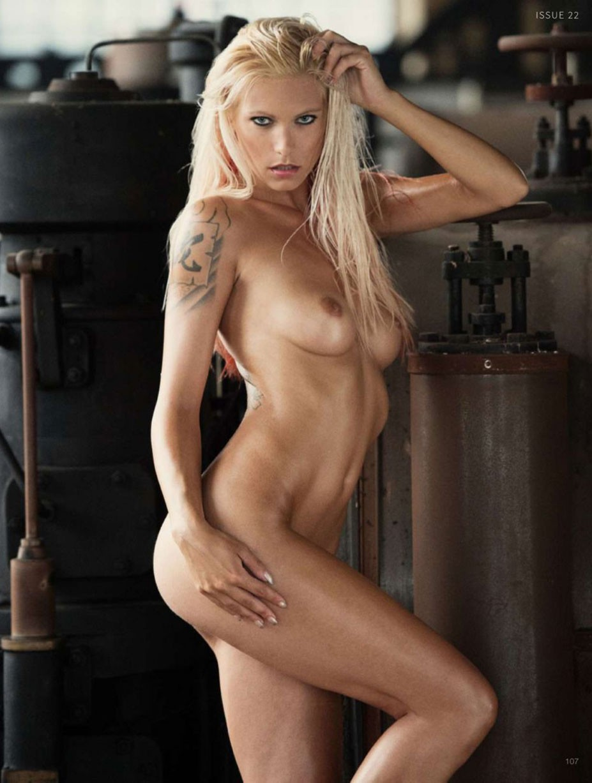Dominika Kissova nude by Martin Wieland - Industrial Revolution