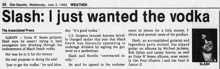1992.03.13 - New York Daily News - Slash bottles deal (Slash) H7DQ0zqv_o