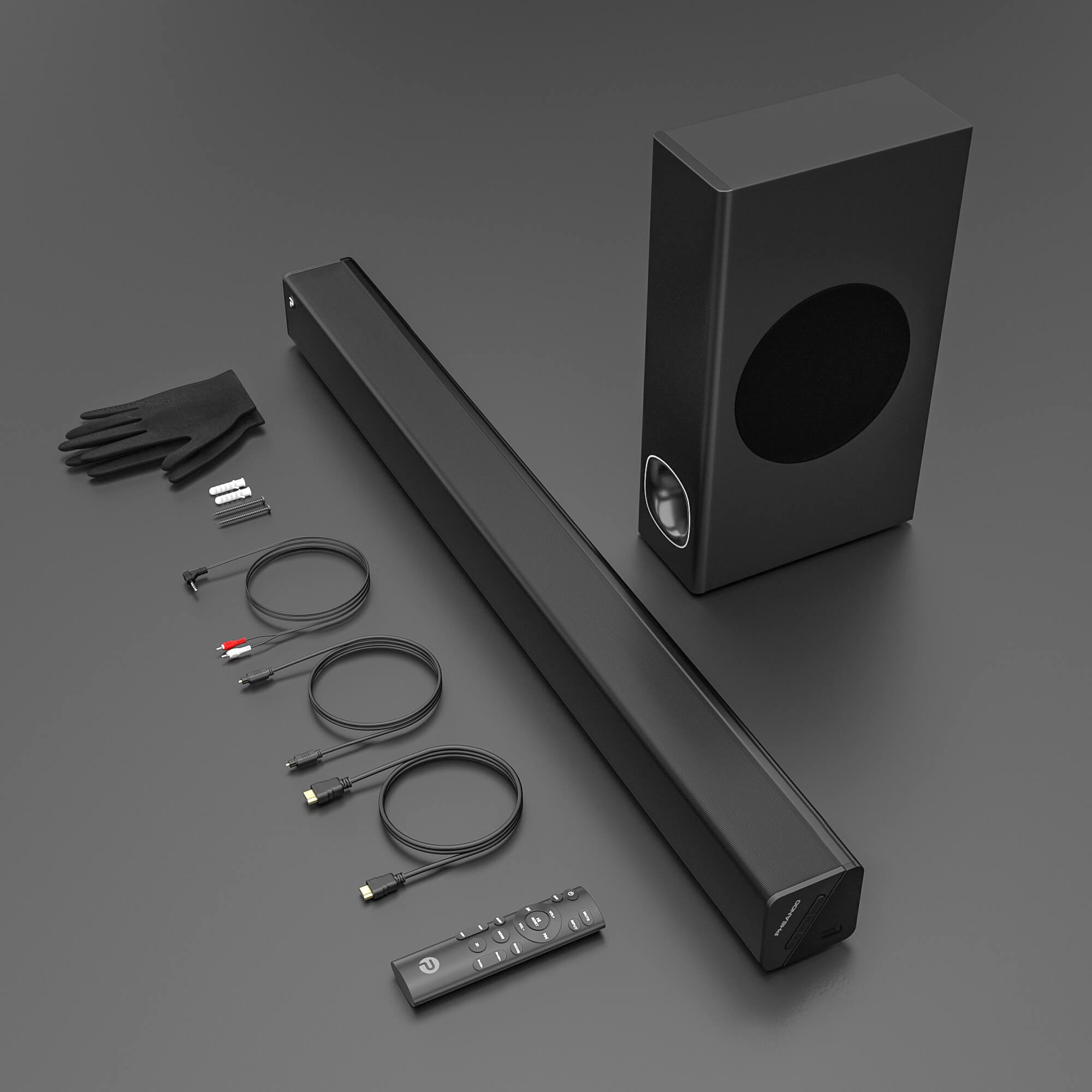 Pheanoo Audio Ltd Manufactures High-tech Soundbar Surround Sound System For TV With Subwoofer HDMI