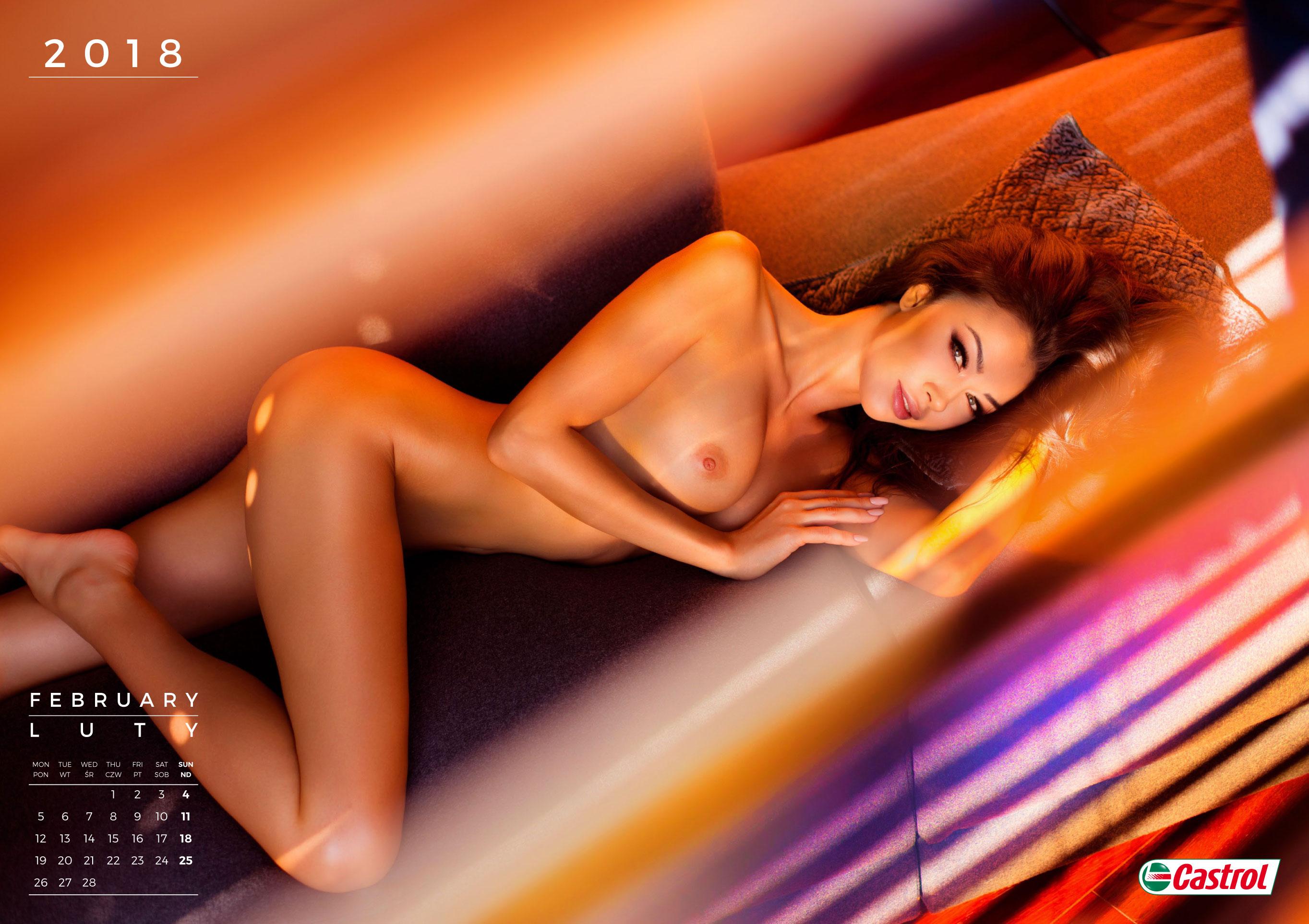 Эротический календарь автомобильной фирмы Inter Cars 2018 nude calendar