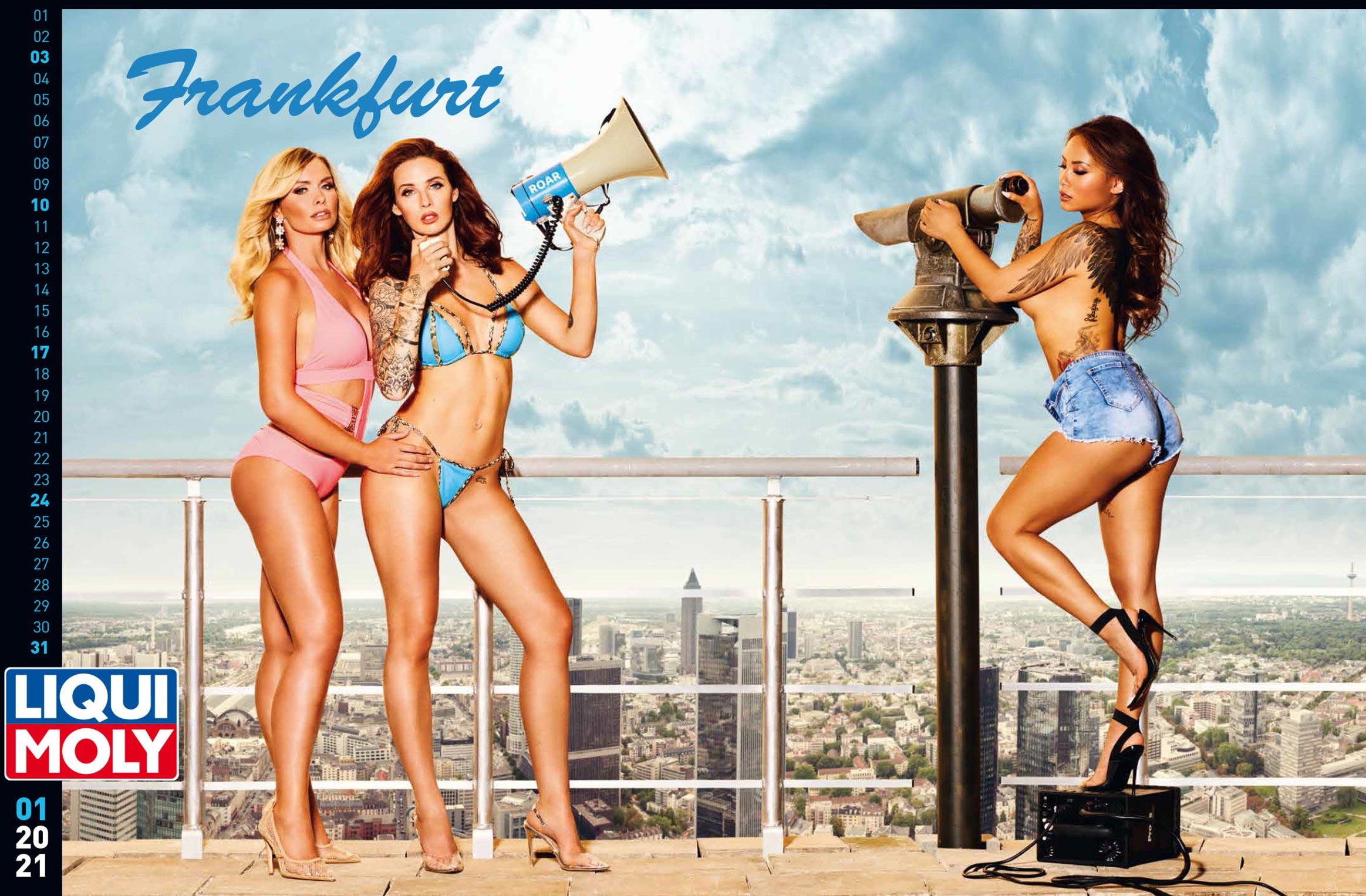 Фирменный календарь с девушками автоконцерна Liqui Moly на 2021 год / январь 2021