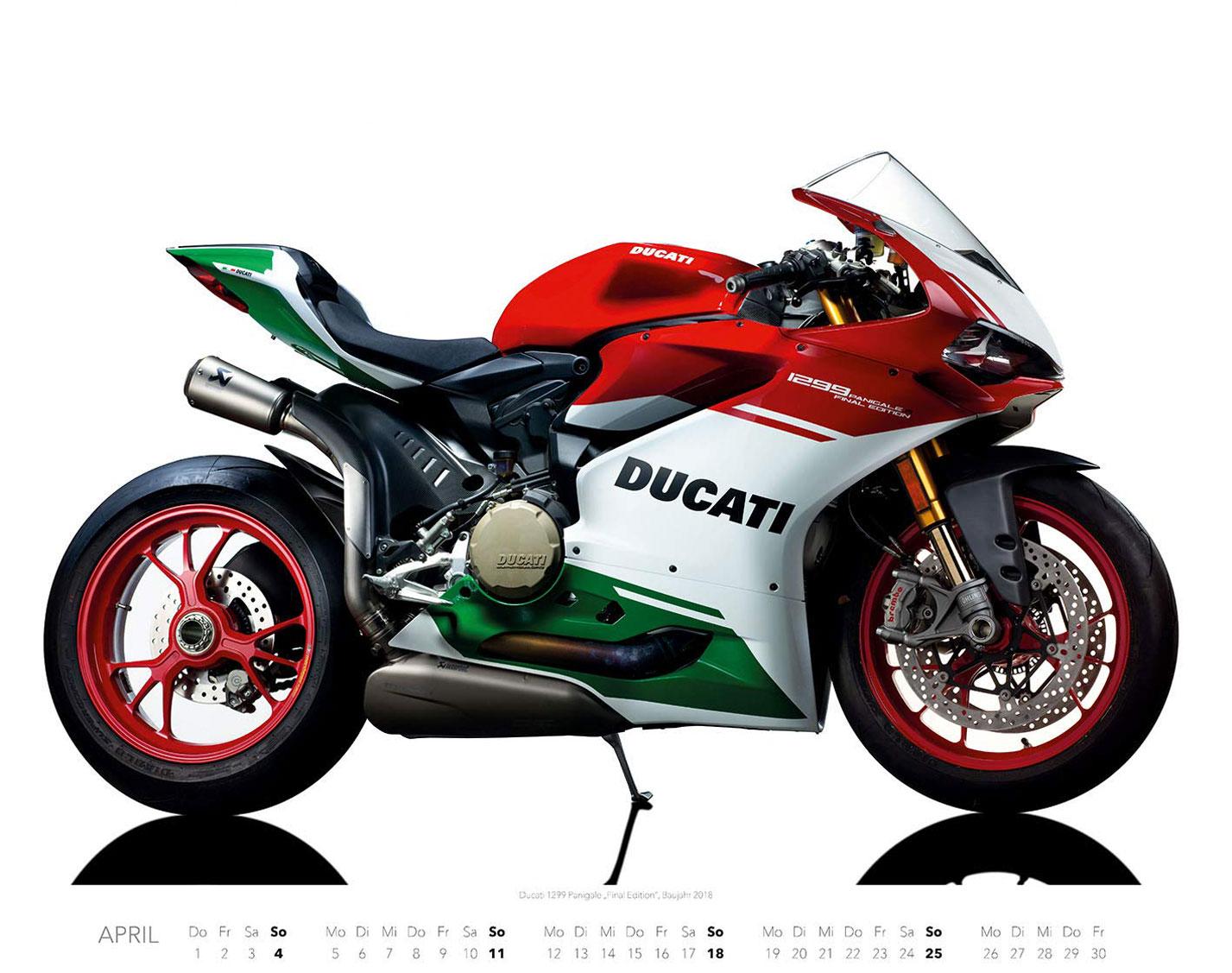 Календарь с крутыми мотоциклами на 2021 год / апрель