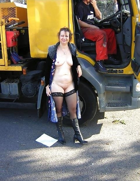 Naked milf in public-6369
