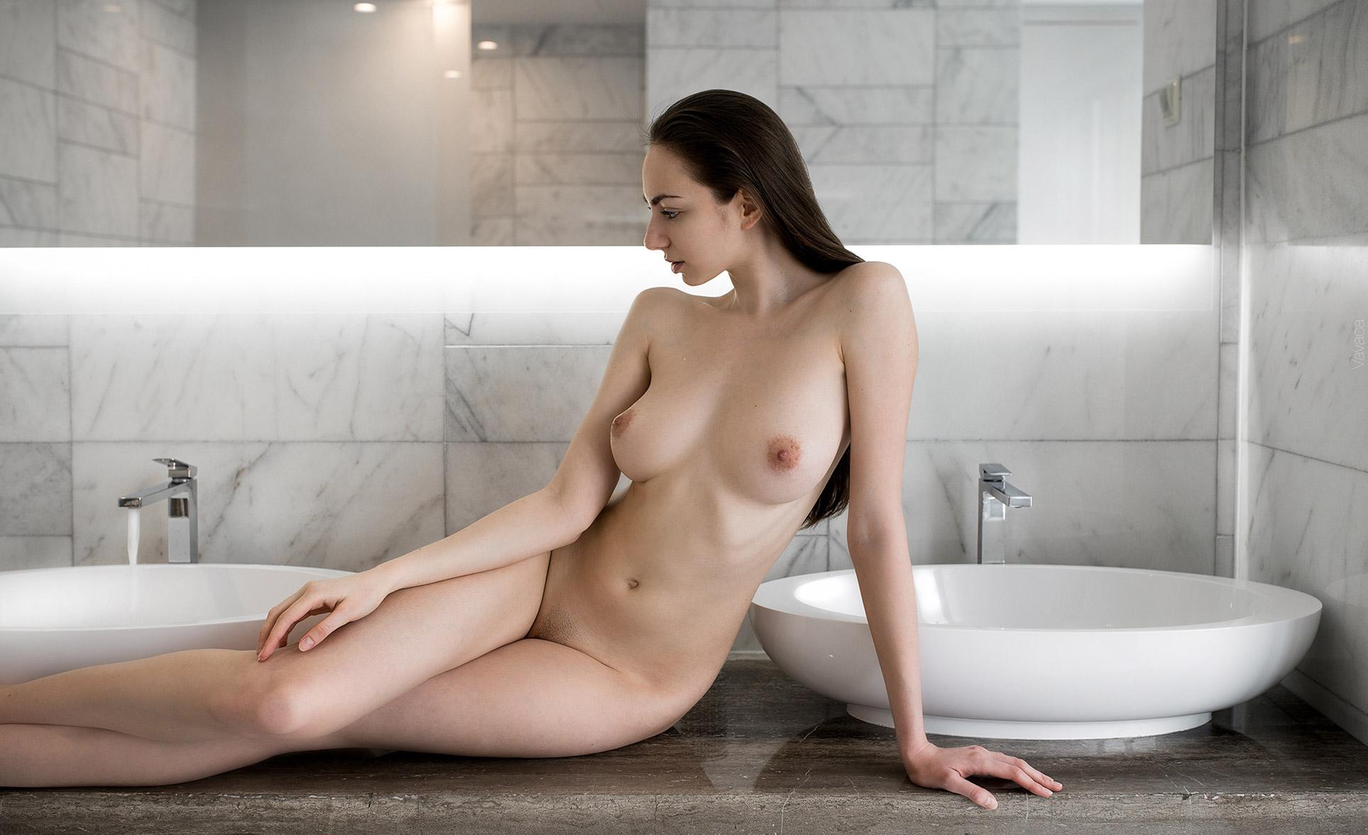 Katerina hartlova busty milf in her bathroom