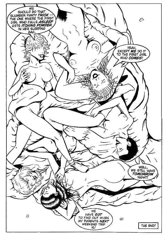 Slumber party lesbian sex-6902