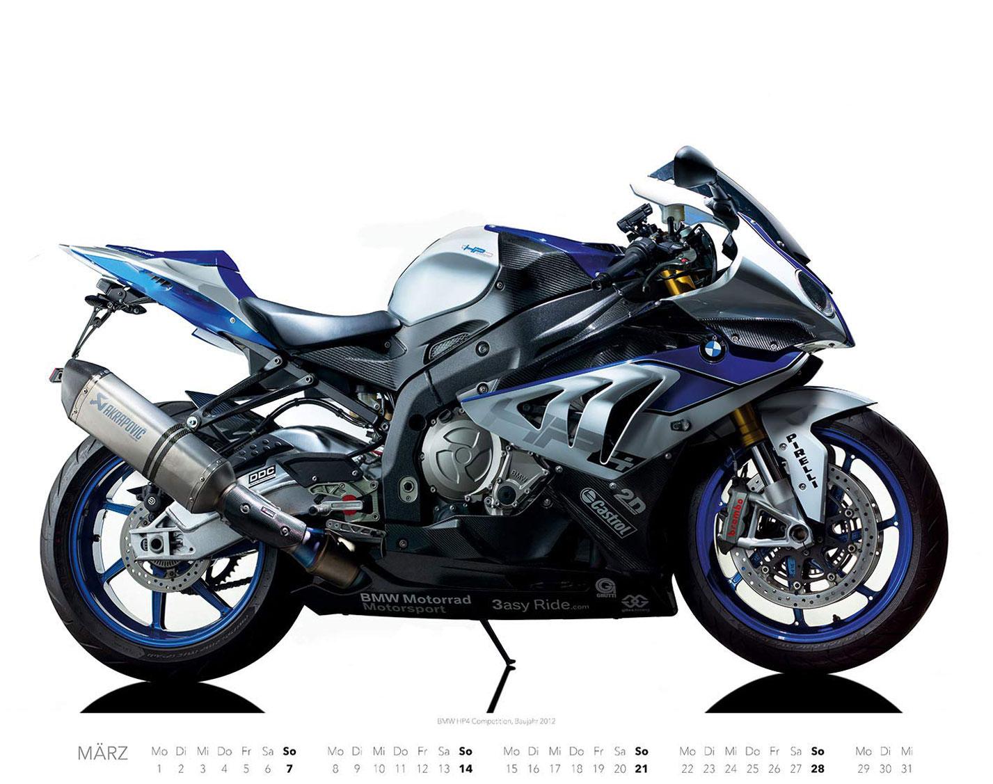 Календарь с крутыми мотоциклами на 2021 год / март