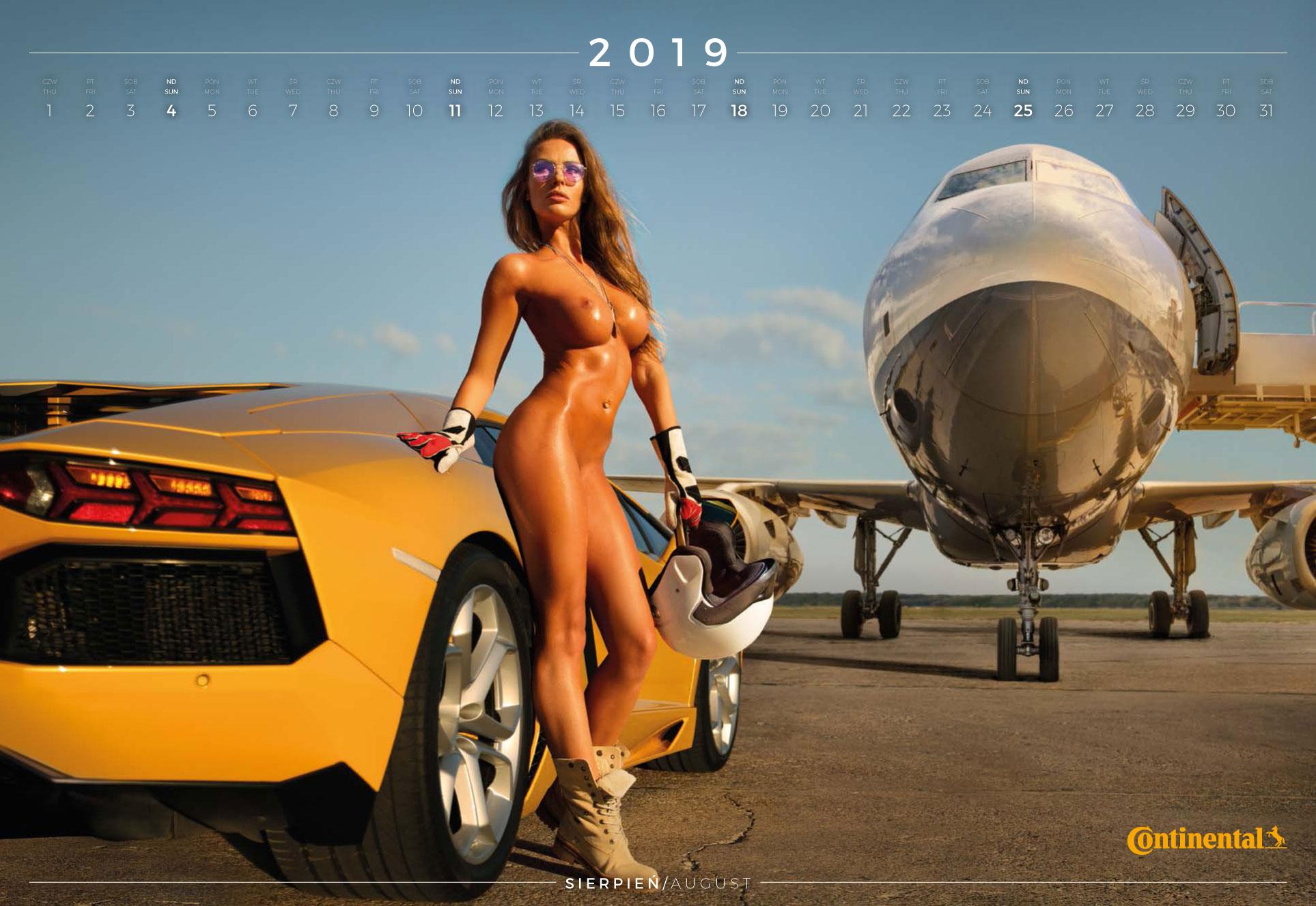 август - эротический календарь 2019 Inter Cars SA / польский дистрибьютор автомобилей, сопутствующих товаров и запчастей