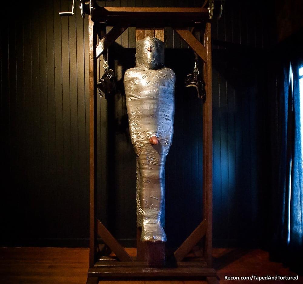Mummification bondage girl-5579
