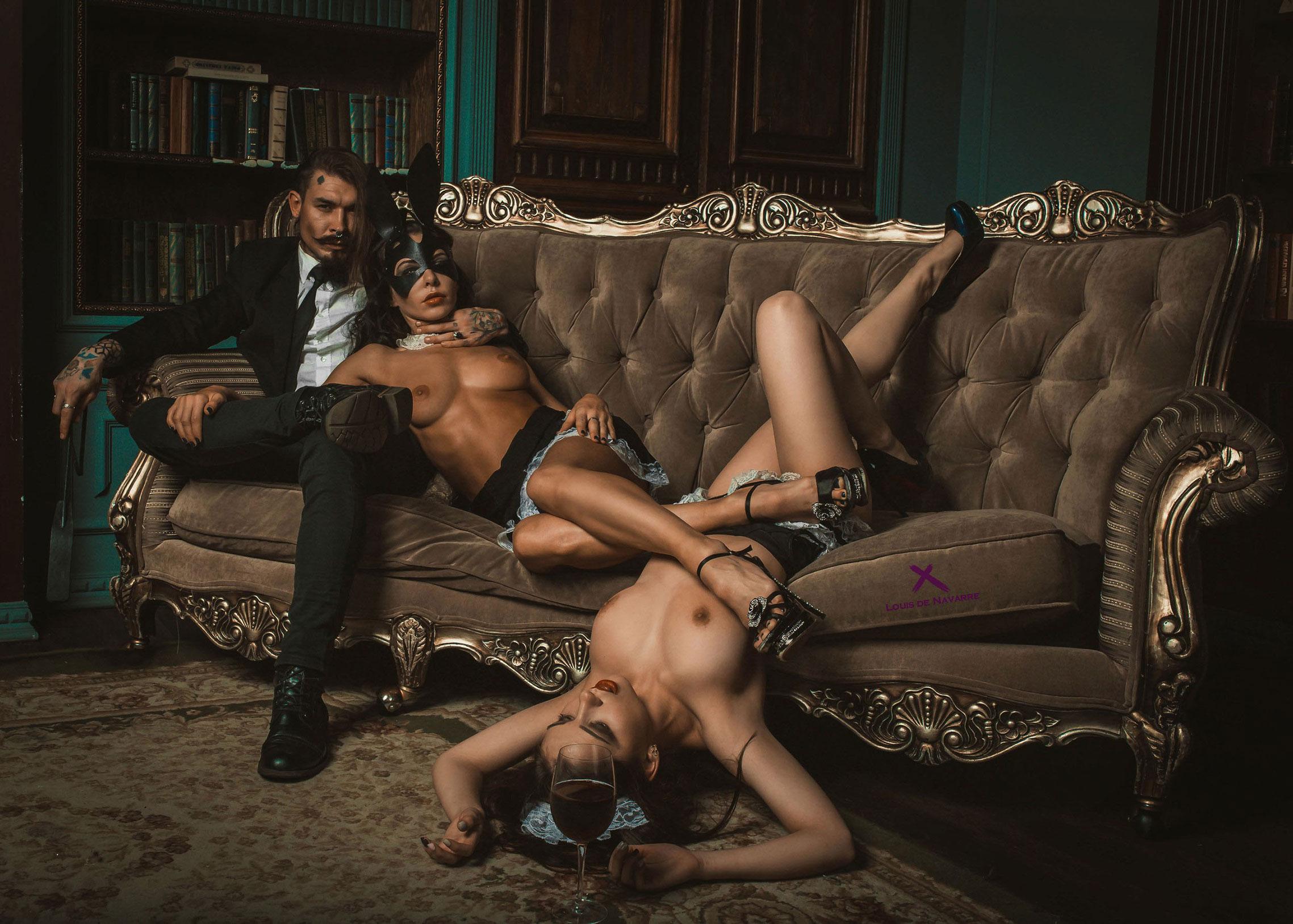 Валерия Коваленко и Анастасия Урба / Noir Nights in St. Petersburg by Louis de Navarre