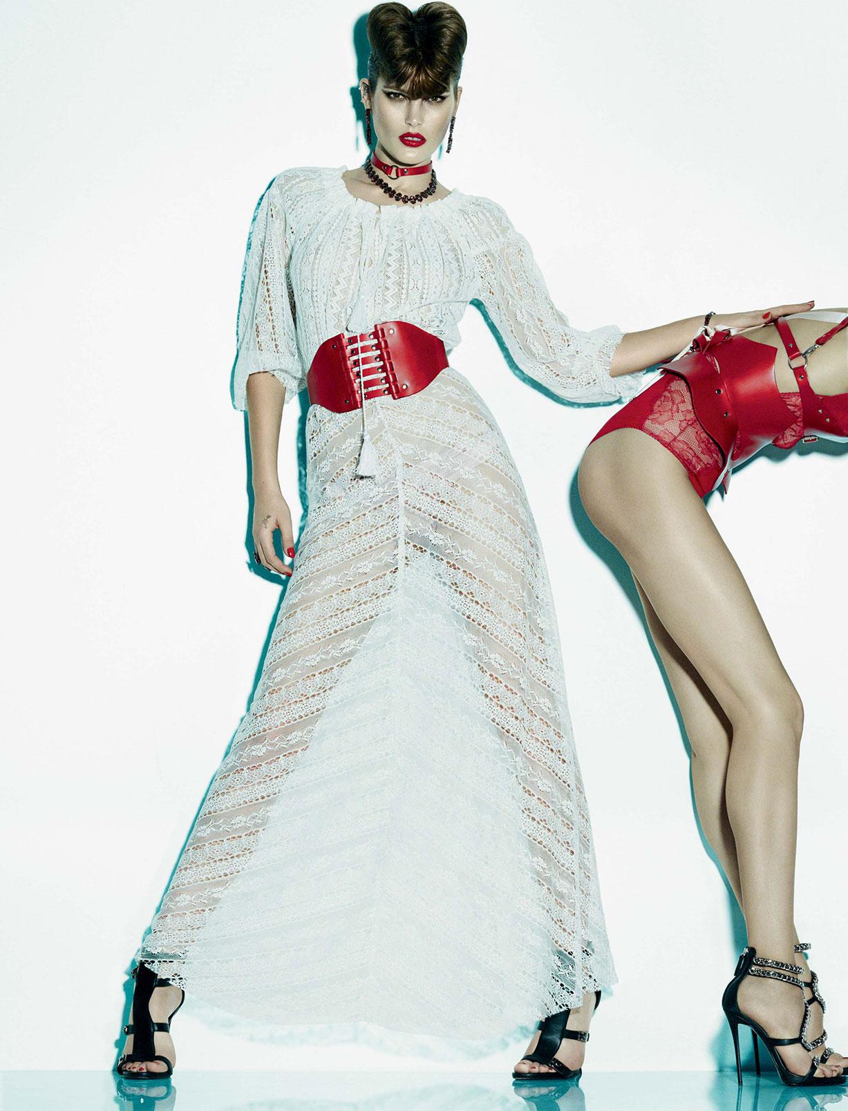 Le diable au corps / Catherine McNeil and Anastasia Khodkina by Greg Kadel - Numero Magazine
