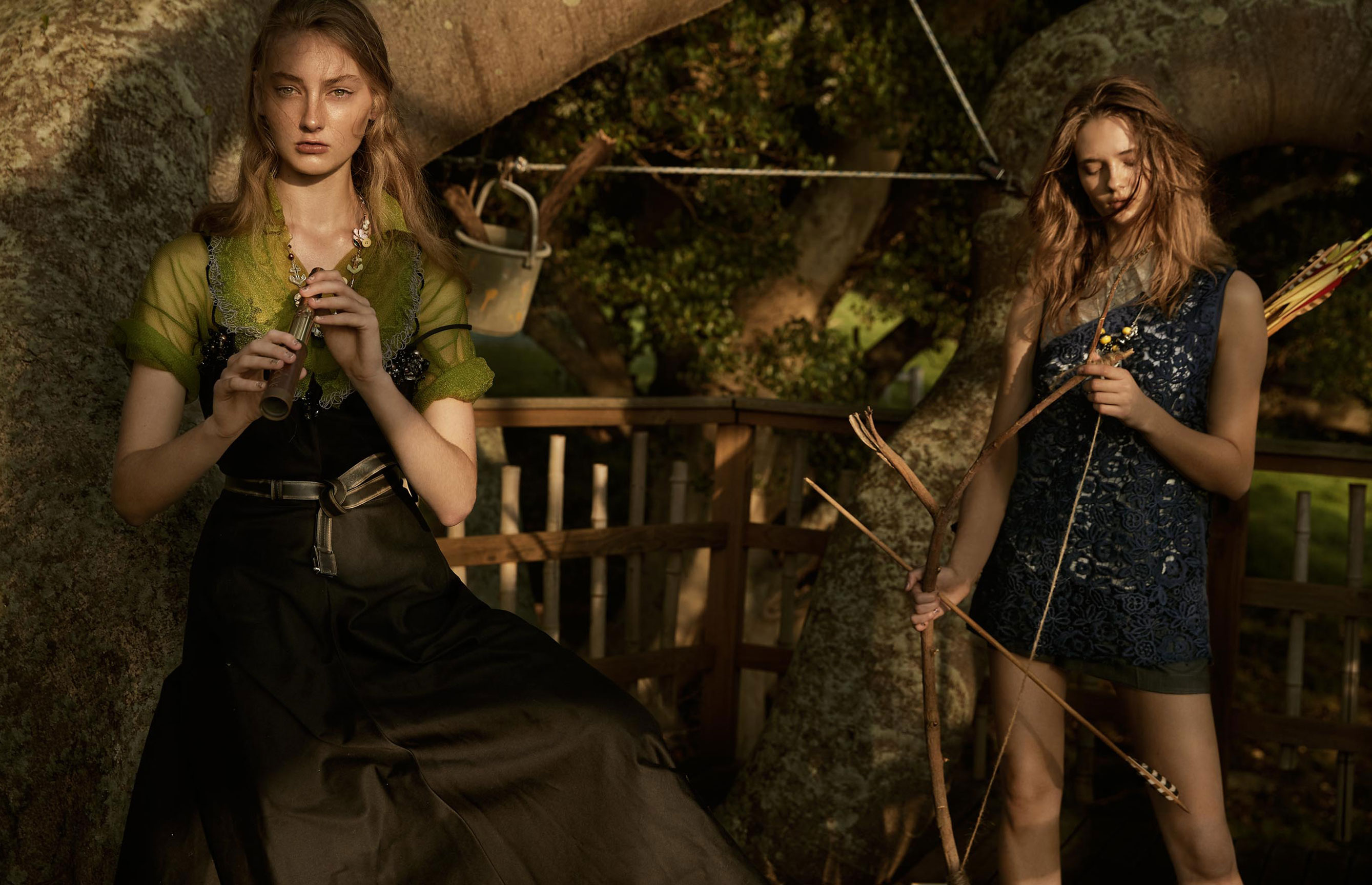 The Treehouse / Billie Adams and Alicja Tubilewicz by Steven Chee - Grazia Australia march 2018