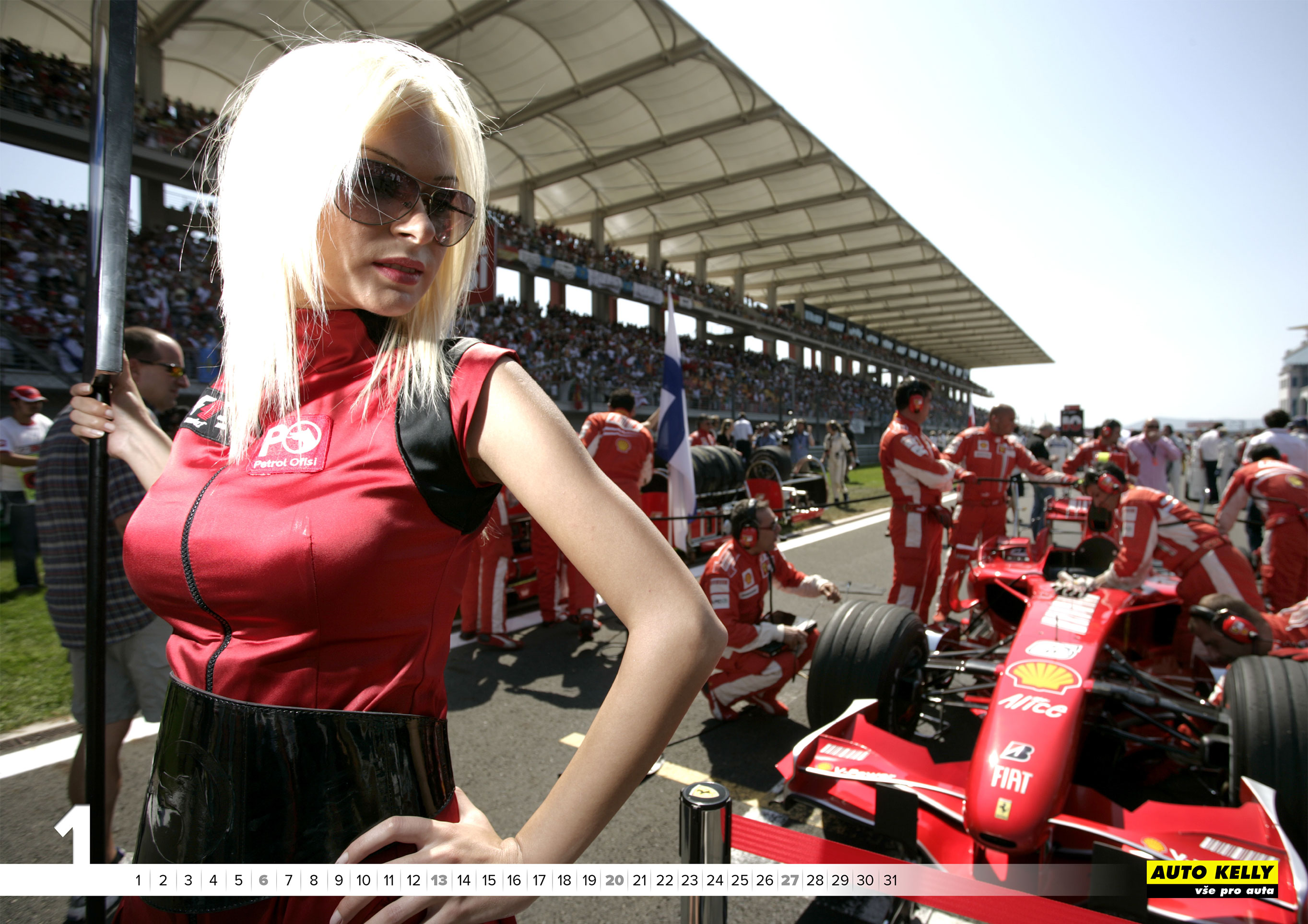 cheerleader / grid girls - Auto Kelly 2019 calendar