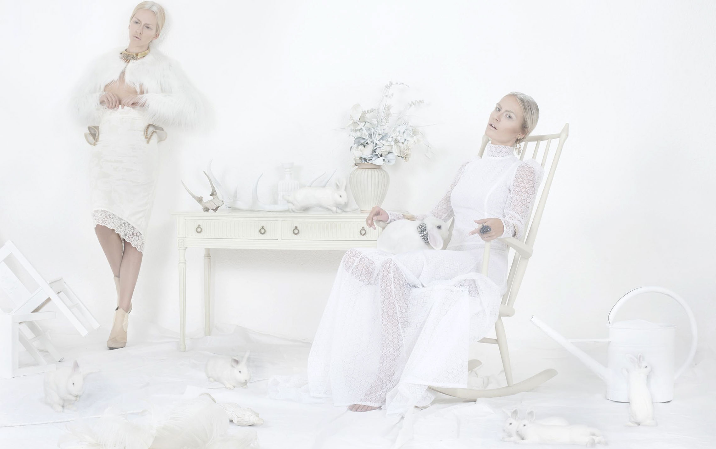 Sarah Dietrich and Marijana Jurcevic by Martin Hohne / The Animal Aspect of White Decadence