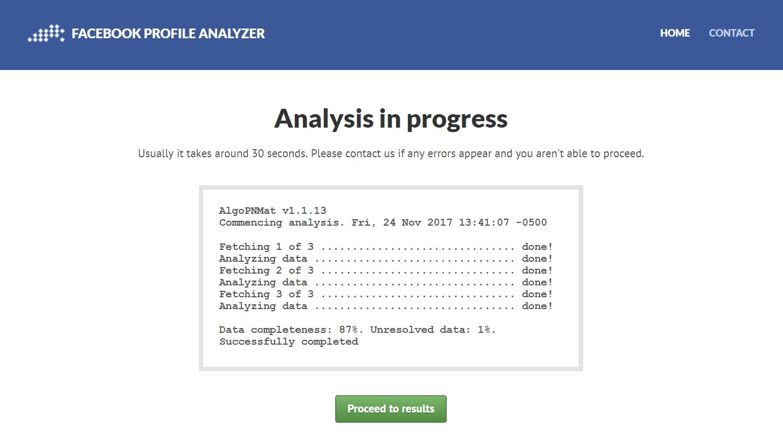 analyze facebook