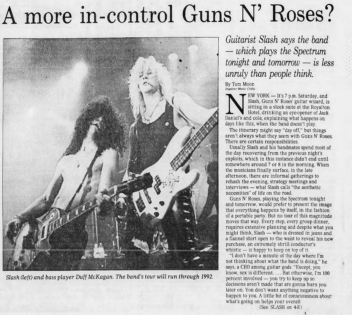 1991.12.16 - The Philadelphia Inquirer - A more in-control Guns N' Roses? (Slash) 1GT1Bckh_o