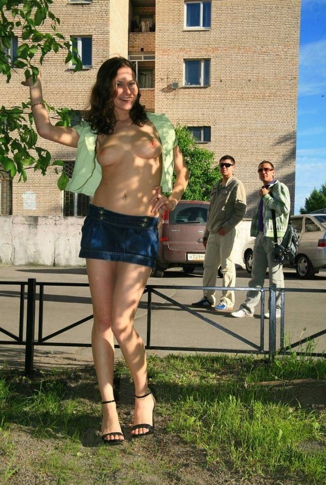 Fondling boobs in public-2535