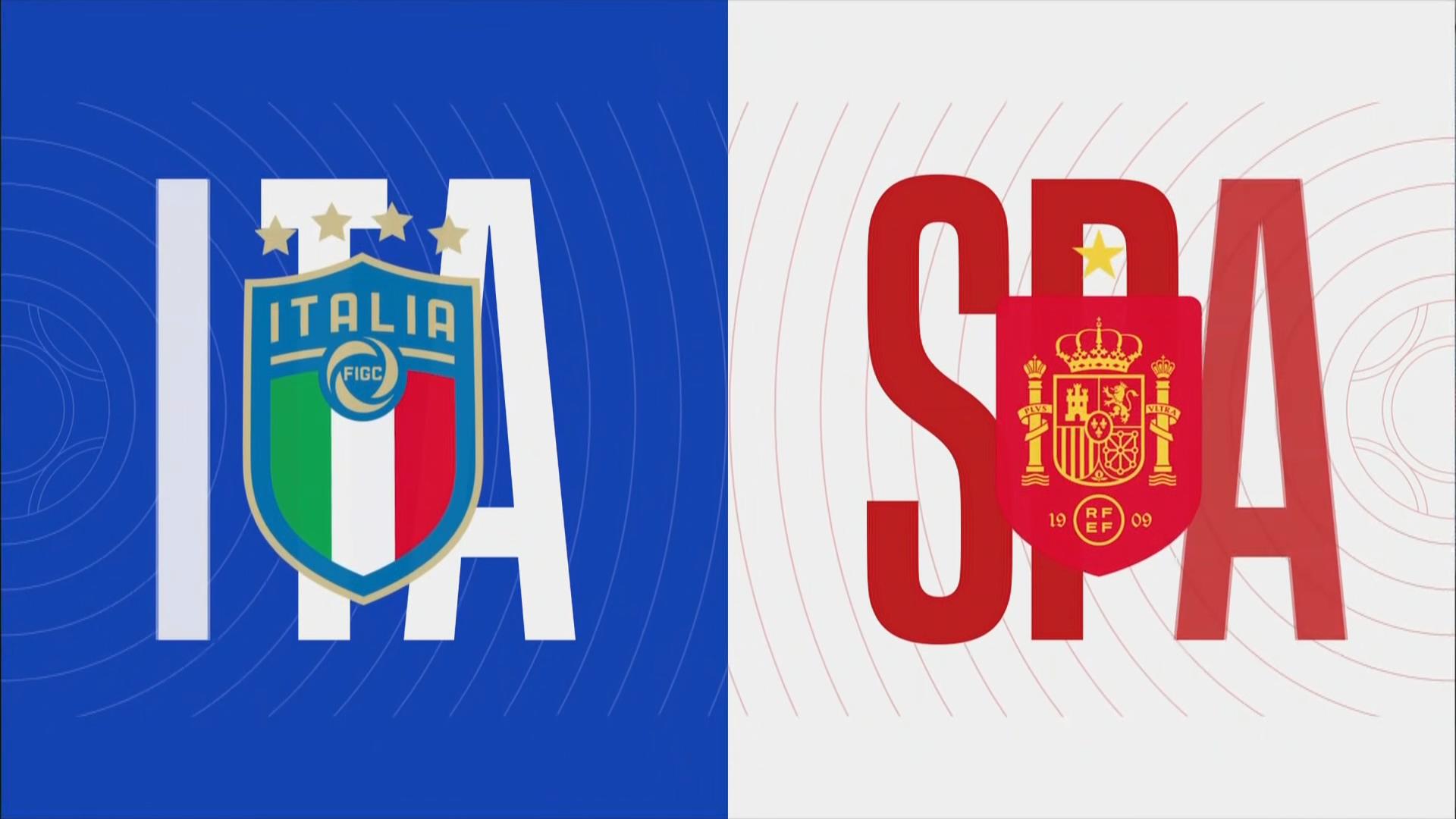 Full match: Italy vs Spain