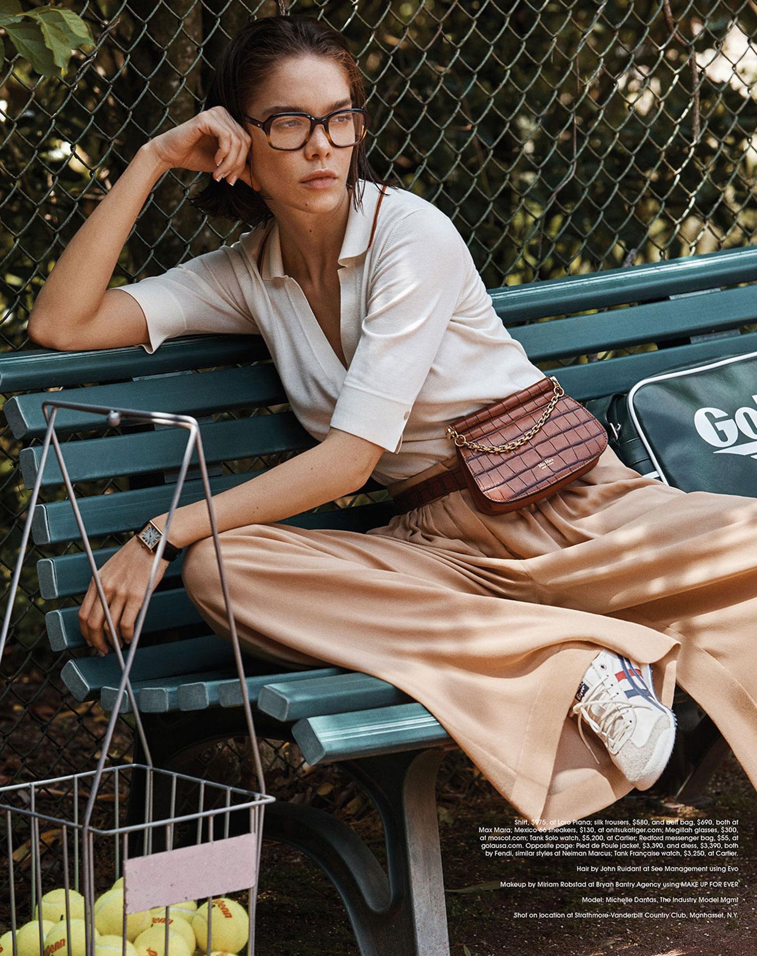 -Королева кортов- Мишель Дантас в модной одежде спортивного стиля / фото 03