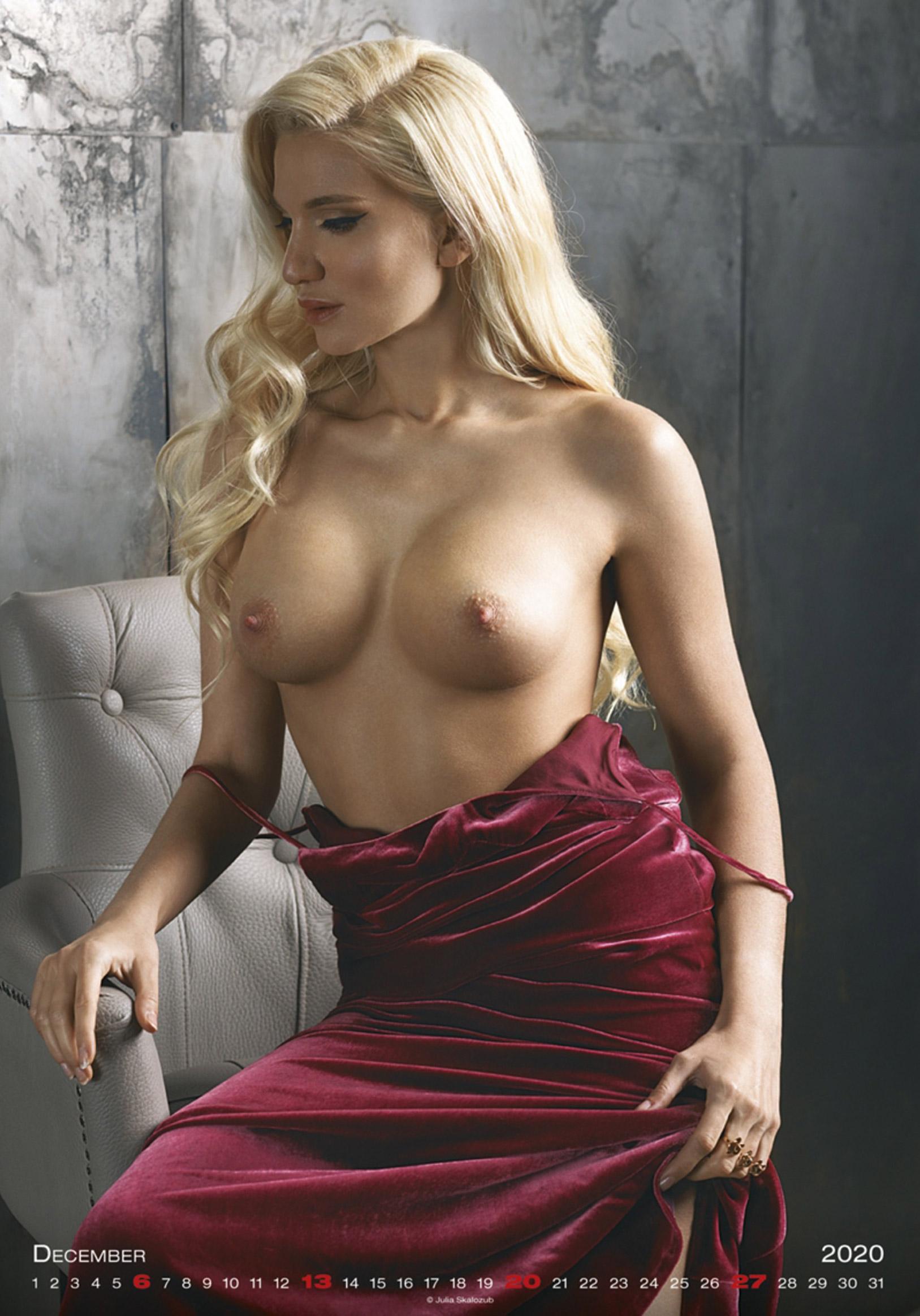 Сексуальные голые девушки в календаре на 2020 год, фотограф Юлия Скалозуб / декабрь