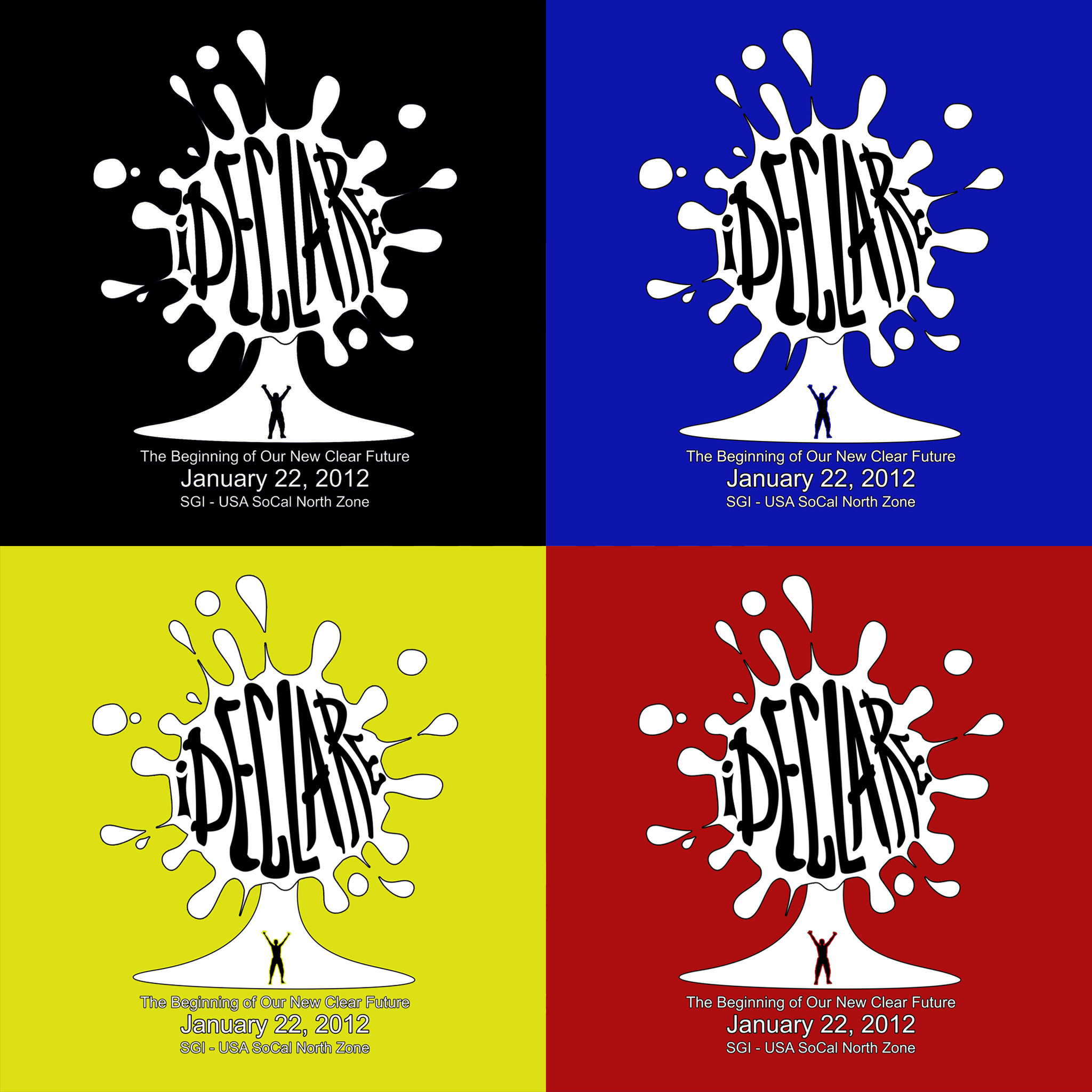 iDeclare T-Shirt Design (Groups separated by color)