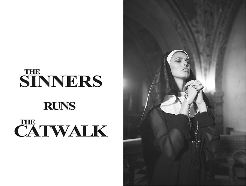 The Sinners Runs The Catwalk - голая монашка Zoi Gorman by Tony Kohrsen